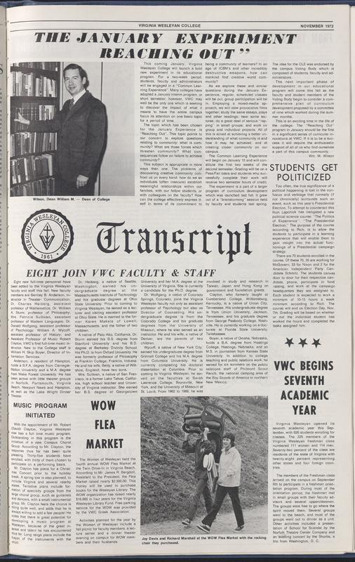 Transcript, November, 1972
