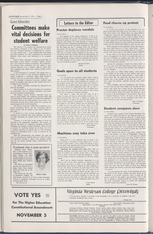 Crosswinds, November 4, 1974, vol. 1, no. 5