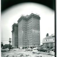 Mayflower Apartments, under construction, 1950