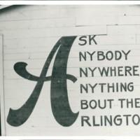 Hotel signage, The Arlington, Virginia Beach